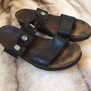 NAOT Ashley Black Sandals